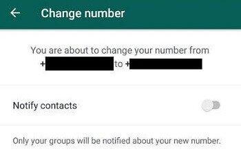 Whatsapp-number-change